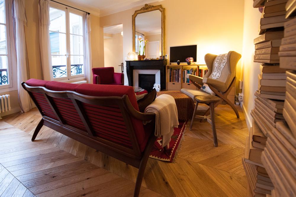 Two bedroom Paris vacation apartment rental Paris Opera